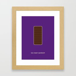 ice cream sandwich Framed Art Print