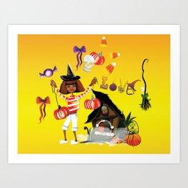Halloween Boogie Art Print