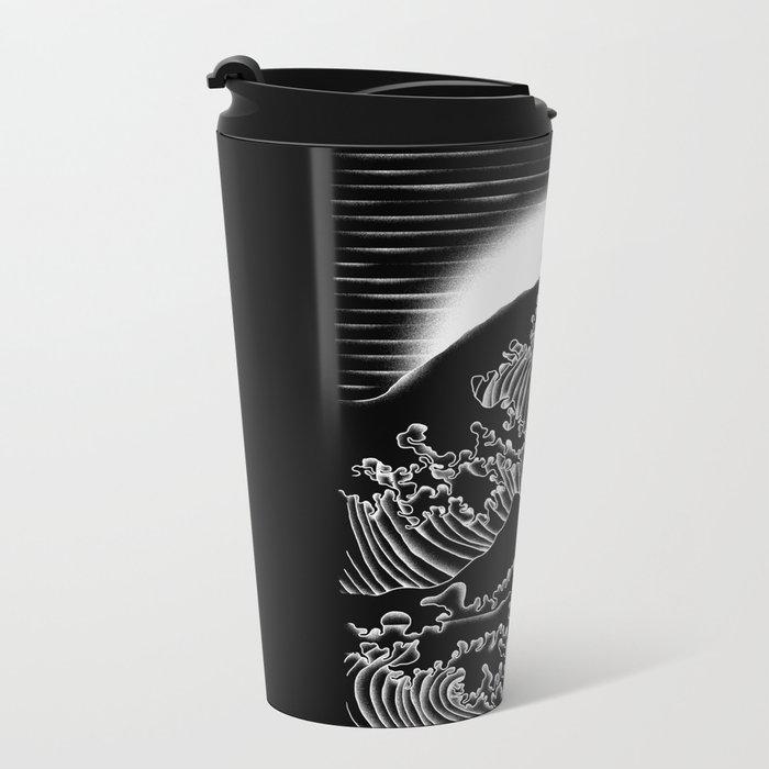 Waterbending (Black) Metal Travel Mug