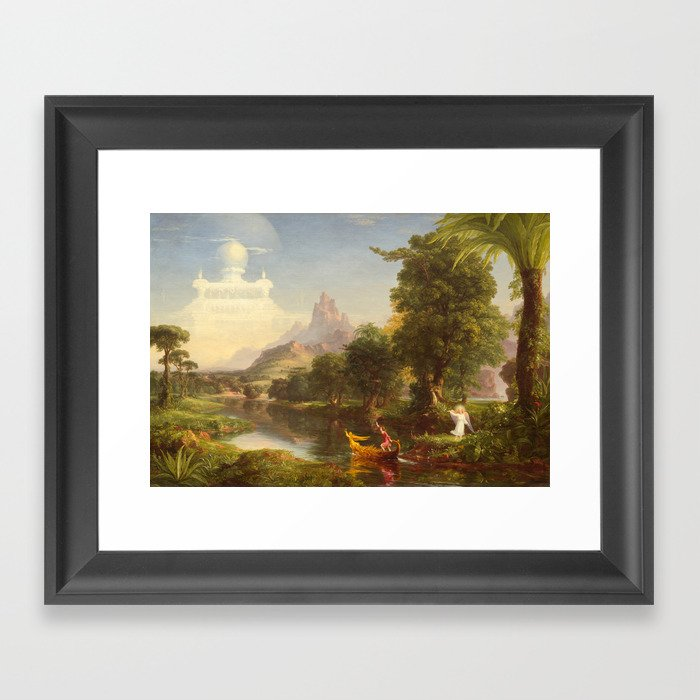 b8840ba478 The Voyage of Life Youth Painting by Thomas Cole Framed Art Print by  podartist | Society6