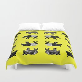 Dance of the Tapirs Duvet Cover