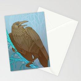 Mechanic Crow Stationery Cards