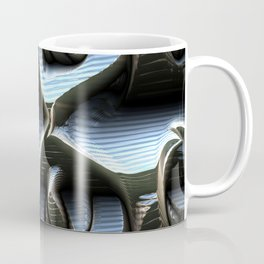 Silver futuristic wavy metal Coffee Mug