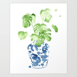 Ginger Jar + Monstera Kunstdrucke