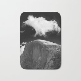 Half Dome Looms on a Cold Spring Day and a Cloud Grows on the Updraft Bath Mat