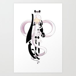 The Gentle Serpent, Ananke Art Print