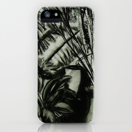 Expressionist Still Life in Charcoal, Flowers--Art Prints iPhone Case