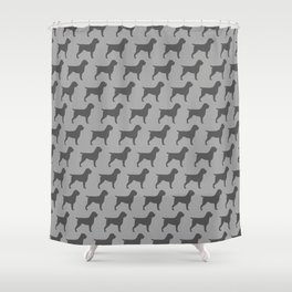 Wirehaired Pointing Griffon Silhouette Shower Curtain