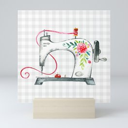 Floral Sew Mini Art Print