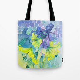 Bee Disappearance, Watercolor Painting Tote Bag