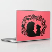 beauty and the beast Laptop & iPad Skins featuring Beauty and the Beast  by eileenlim