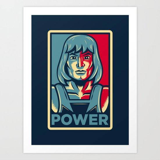 Power....he has it! Art Print