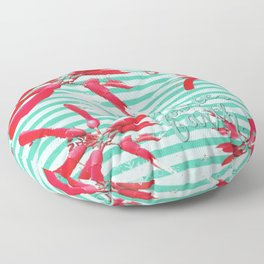 Falalalala Flower Floor Pillow