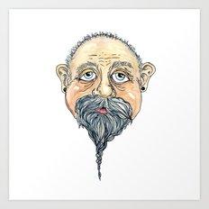 old man 2 Art Print