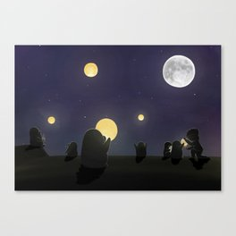 Lanterns, (The Unexpected Adventures: Moon Day) Canvas Print