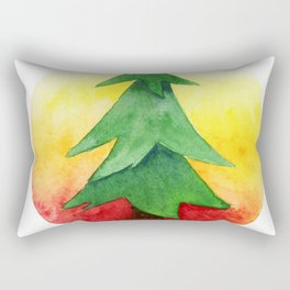 The Pine Guard Watercolor Logo Rectangular Pillow