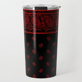 Classic Black and Red Bandana Travel Mug