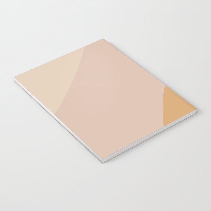 Warm Neutral Color Block Notebook