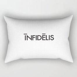 Infidelis Typography Rectangular Pillow