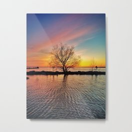 Rainbow Tree Metal Print