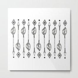 American Native Arrows No. 2 Metal Print