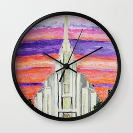 Rome Italy LDS Temple Wall Clock