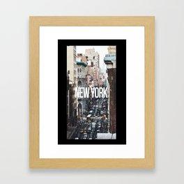Streets of New York City Framed Art Print
