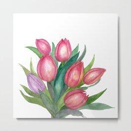 Bouquet Of Tulips Metal Print