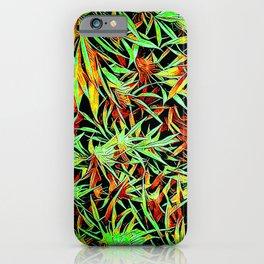 Cartoon Cannabis Jungle iPhone Case