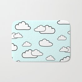 Puffy Clouds Bath Mat