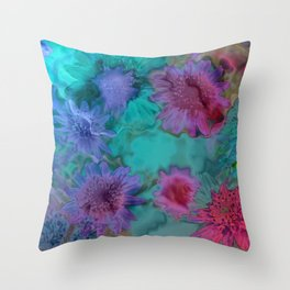 Flowers abstract #2 Throw Pillow