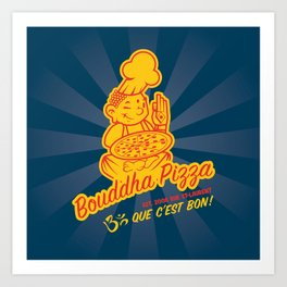 Bouddha Pizza Art Print