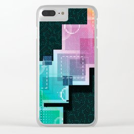 Abstract Tech Clear iPhone Case
