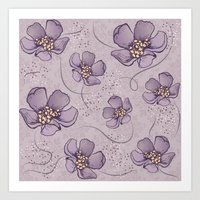 magnolia Art Prints featuring Magnolia by Vickn