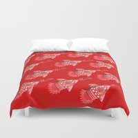 nba Duvet Covers featuring ROCKETS HAND DRAWING DESIGN by SUNNY Design