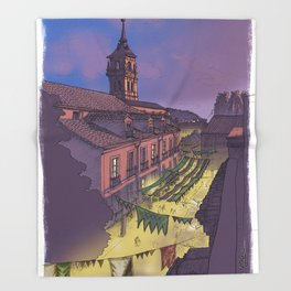 Medieval Fair (color) Throw Blanket