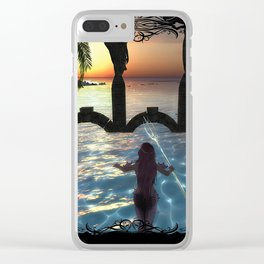 Dawns Embrace Clear iPhone Case