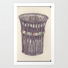 Ballpen Bin from NYC 5 Art Print
