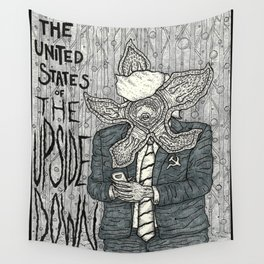 United States of the Upside Down Wall Tapestry