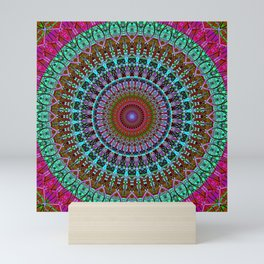 BoHo mandala Mini Art Print