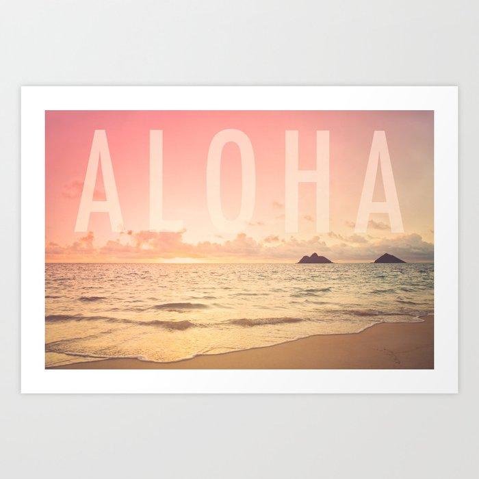 Aloha Lanikai Sunrise Kunstdrucke