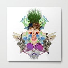 Blue Grass by Lenka Laskoradova Metal Print