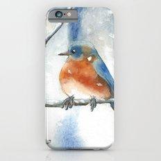 Little bird in the snow iPhone 6s Slim Case