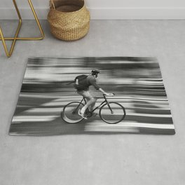 Biking to nowhere Rug