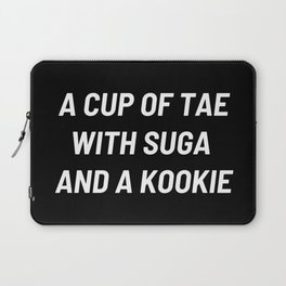 A cup of Tae with Suga and a Kookie, BTS Jungkook, BTS V, BTS Suga Laptop Sleeve