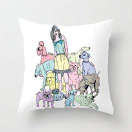 dog life Throw Pillow