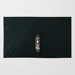 Iceland Ship from Above - Ocean Photography Rug
