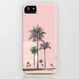 Tropical Sunset In Peach Coral Pastel Colors iPhone Case