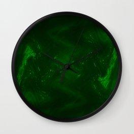Dark green grunge Wall Clock
