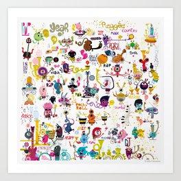 Music world Art Print